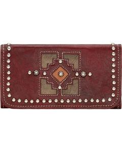 American West Annie's Secret Crimson Tri-Fold Wallet, , hi-res