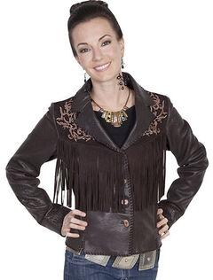 Scully Leatherwear Rugged Lamb Fringe Jacket , , hi-res