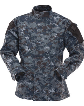 Tru-Spec Tactical Response Uniform Cotton RipStop Shirt - Big and Tall, Midnight, hi-res