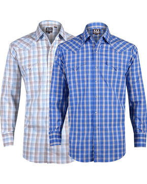 Ely Cattleman Men's Assorted Long Sleeve Checkered Shirts , Multi, hi-res