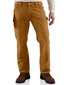Carhartt Weathered Duck Double Front Dungaree Work Pants, , hi-res