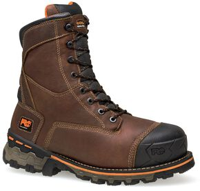 "Timberland Pro Boondock Waterproof Insulated 8"" Lace-Up Work Boots - Soft Toe, Brown, hi-res"