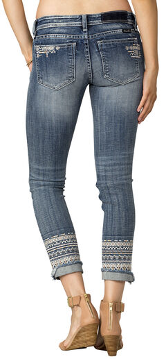 Miss Me Women's Indigo Signature Rise Jeans - Ankle Skinny, , hi-res