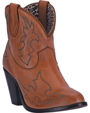 Dingo Women's Brown Billie Cowgirl Boots - Round Toe , Tan, hi-res