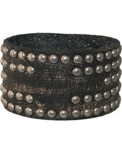 Stetson Leather Studded Cross Wristband, , hi-res