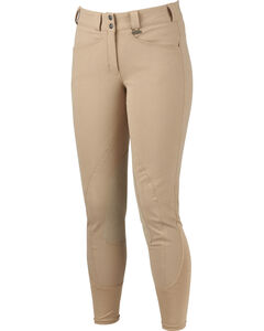 Dublin Performance Slender Euro Seat Front Zip Breeches, , hi-res