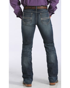 "Cinch Men's Ian Mid-Rise Slim Bootcut Jeans - 38"" Inseam, Dark Stone, hi-res"