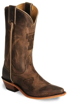 Nocona Texas Tech College Boots, , hi-res