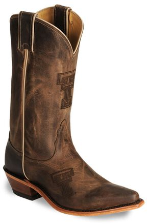 Nocona Texas Tech College Boots, Tan, hi-res