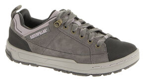 Caterpillar Women's Brode Work Shoes - Steel Toe, Grey, hi-res