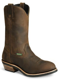 Dan Post Albuquerque Waterproof Distressed Leather Western Work Boots, , hi-res