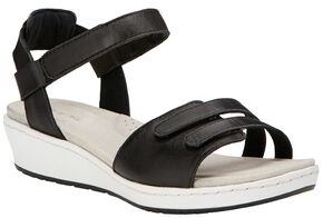 Ariat Women's Black Leisure Time Ankle Strap Sandals , Black, hi-res