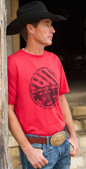 CInch Men's Red Logo Short Sleeve Tee, Red, hi-res