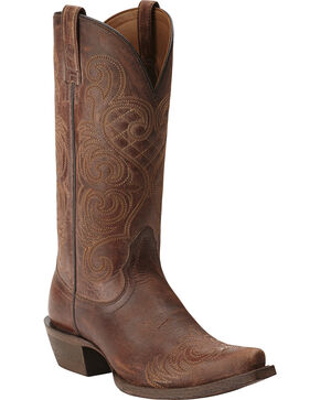 Ariat Bright Lights Cowgirl Boots - Snip Toe, Brown, hi-res