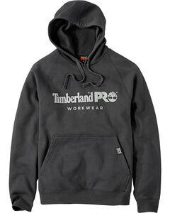 Timberland Men's Black Logo Raglan Hoodie , , hi-res