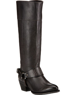 Ariat Sadler Black Women's Riding Boots - Round Toe , Black, hi-res