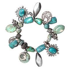 Treska Mykonos Stretch Multi-Dangle Bracelet , , hi-res