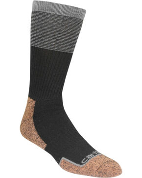 Carhartt Force Steel Toe Black Copper Crew Socks, Black, hi-res