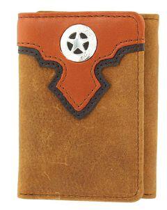 Nocona Overlay & Star Concho Tri-fold Wallet, , hi-res