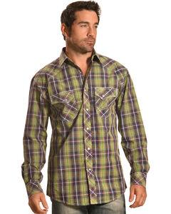 Crazy Cowboy Men's Plaid Western Snap Shirt  , , hi-res
