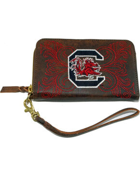 Gameday Boots University of South Carolina Leather Wristlet, Brass, hi-res