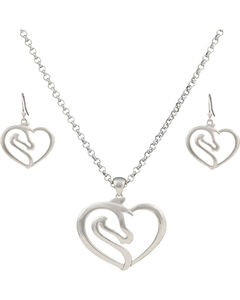 Montana Silversmiths Equestrian Heart Jewelry Set, , hi-res
