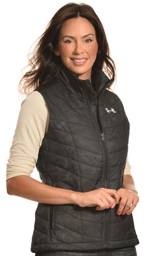 Under Armour Women's UA Frost Puffer Insulated Vest , Black, hi-res