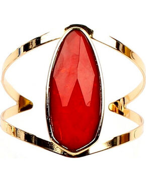 Ethel & Myrtle Best of Show Red Crystal Cuff Bracelet, Red, hi-res