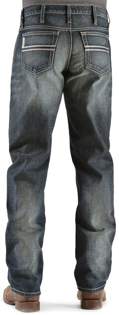 Cinch White Label Relaxed Fit Mid-Rise Jeans Dark Stonewash, , hi-res