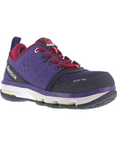 Reebok Women's Violet Athletic Oxford DMX Flex Work Shoes - Alloy Toe , , hi-res