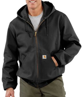 Carhartt Duck Active Thermal Lined Jacket - Big & Tall, Black, hi-res