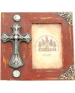 """Western Moments Fancy Cross Wooden Photo Frame - 4"""" x 6"""", , hi-res"""