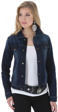 Wrangler Women's Denim Button Front Jacket , , hi-res