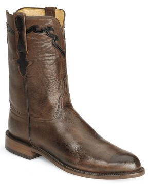 Lucchese Handcrafted Classics Whiskey Burn Baby Buffalo Roper Boots, Whiskey, hi-res