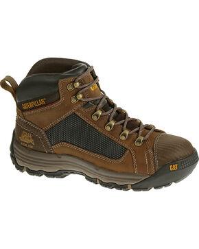 Caterpillar Men's Light Brown Convex Mid Work Boots - Soft Toe, Light Brown, hi-res