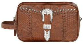 American West Leather w/ Buckle Dopp Kit, Mocha, hi-res