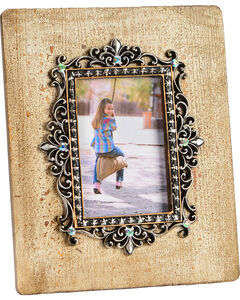 HiEnd Accents Silver Scroll & Bling 4x6 Photo Frame, Multi, hi-res