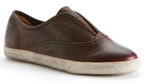 Frye Women's Mindy Slip-on Shoes - Round Toe, Dark Brown, hi-res
