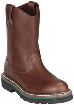 John Deere Youth Boys' Johnny Popper Roper Western Boots - Round Toe, , hi-res