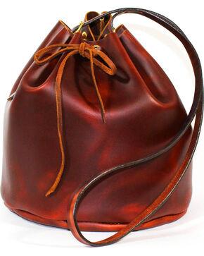 SouthLife Supply Women's Brick Drawstring Bucket Bag, Mahogany, hi-res