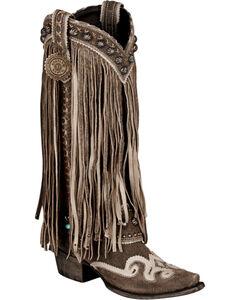 Lane for Double D Ranch Black Prescott Boots - Snip Toe , , hi-res