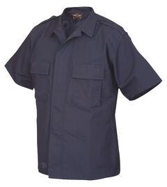 Tru-Spec Men's Navy Short Sleeve Tactical Shirt , , hi-res