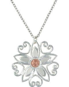Montana Silversmiths Star Flower Love Necklace, , hi-res