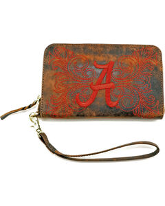 Gameday Boots University of Alabama Leather Wristlet, , hi-res