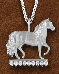 Kelly Herd Women's Sterling Silver Paso Fino CZ Necklace, , hi-res