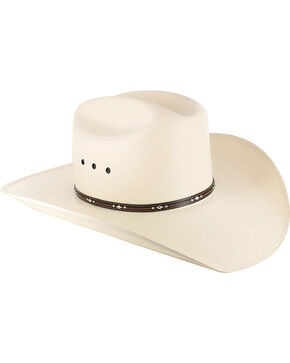 Resistol George Strait Men's Kingman 10X Straw Hat, Natural, hi-res