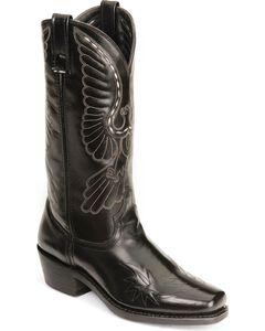 Laredo Eagle Stitch Cowboy Boots - Square Toe, , hi-res