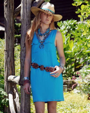 Tasha Polizzi Women's Turquoise Icon Dress Short, Turquoise, hi-res