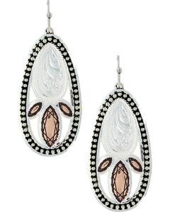 Montana Silversmiths Women's Crosscut Prairie Fire Earrings , , hi-res