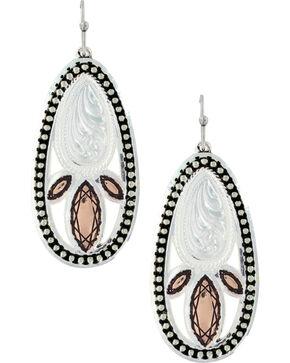 Montana Silversmiths Women's Crosscut Prairie Fire Earrings , Multi, hi-res